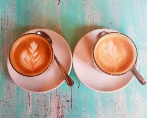 variedad de cafes en la carta de area
